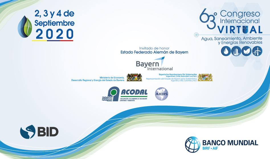 63° CONGRESO INTERNACIONAL  AGUA, SANEAMIENTO, AMBIENTE Y ENERGÍAS RENOVABLES