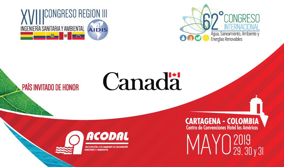 62º CONGRESO INTERNACIONAL DE AGUA SANEAMIENTO, AMBIENTE Y ENERGÍAS RENOVABLES – MAYO 29, 30 Y 31 DE 2019