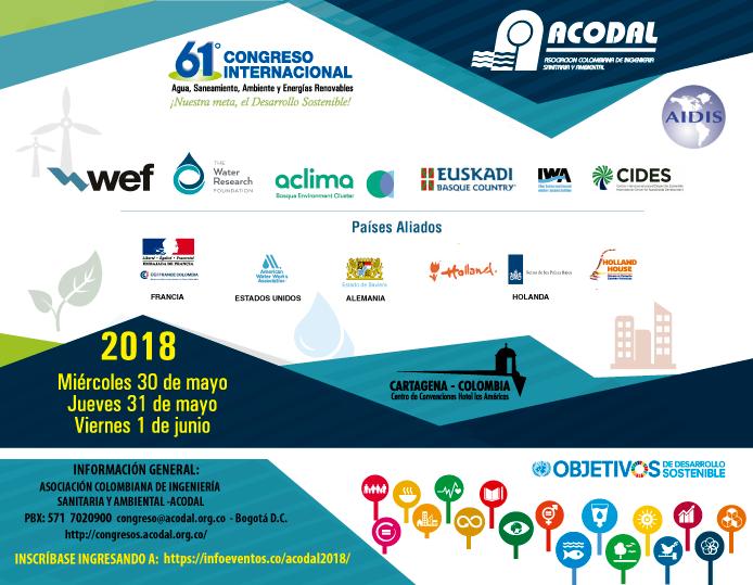Memorias del 61° Congreso Internacional de Acodal: Agua, Saneamiento, Ambiente y Energías Renovables