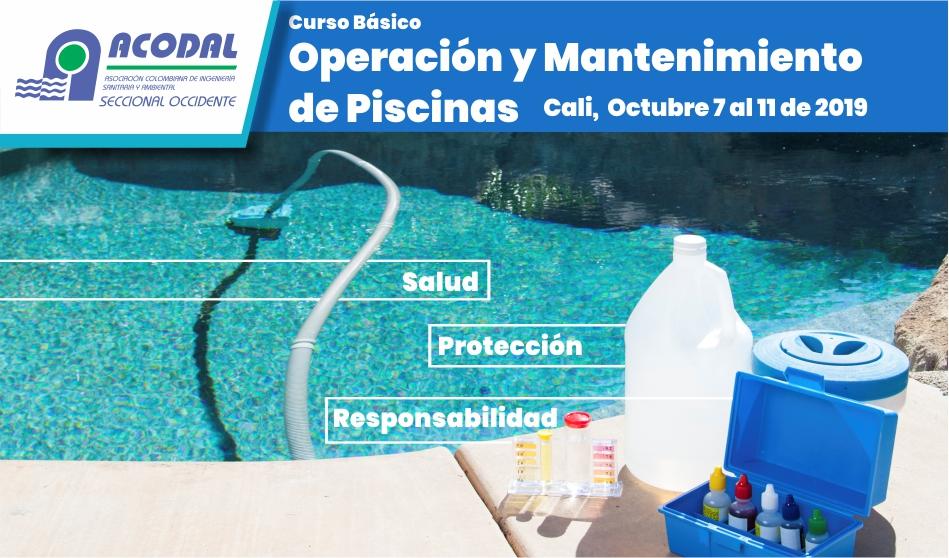 Curso Básico Operación y Mantenimiento de Piscinas, Octubre 7 al 11 de 2019