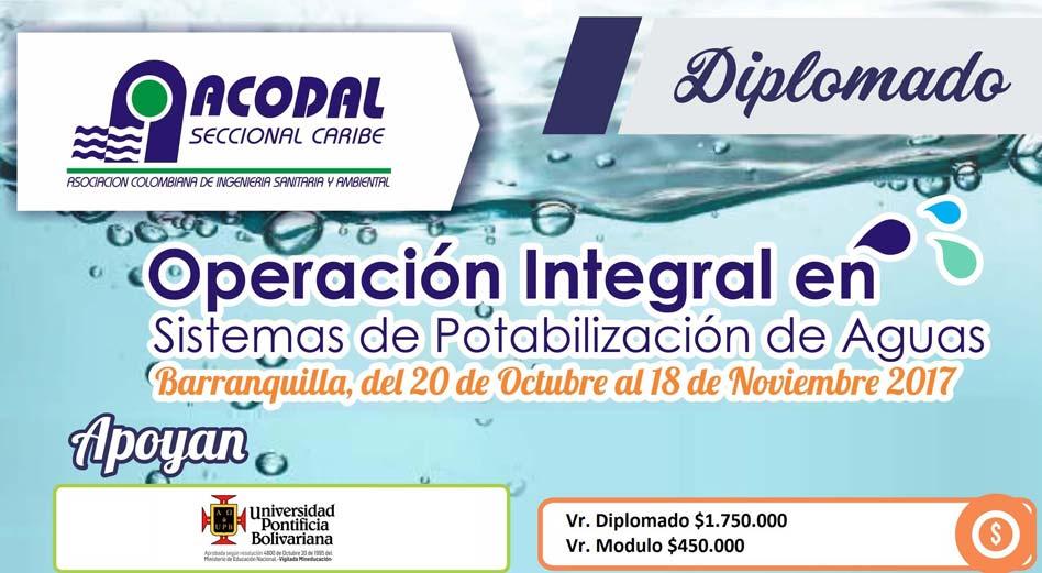 Diplomado: Operación Integral en Sistemas de Potabilización de Aguas
