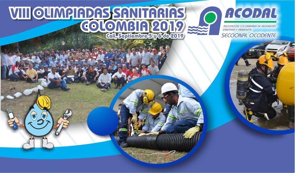 VIII OLIMPIADAS  SANITARIAS COLOMBIA, 2019 Cali,  5 y 6 de Septiembre de 2019