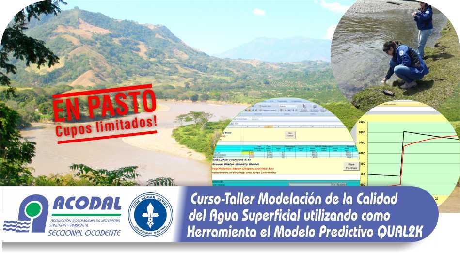 CURSO – TALLER MODELACIÓN DE LA CALIDAD DEL AGUA EN CORRIENTES SUPERFICIALES UTILIZANDO EL MODELO QUAL2K 23 AL 24 JUNIO-30 AL 1 JULIO