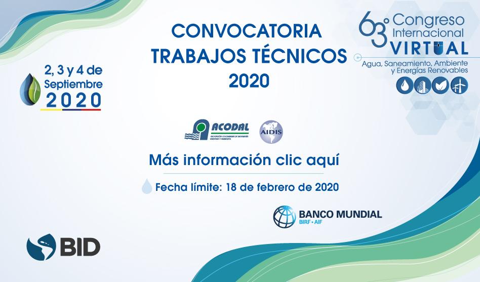 Convocatoria trabajos técnicos – 63 Congreso Internacional de ACODAL